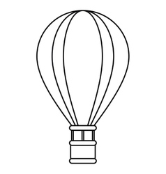 airballoon travel recreation adventure outline vector image