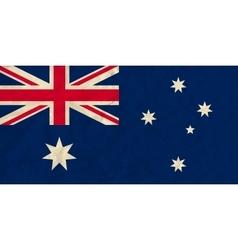 Australia paper flag vector image