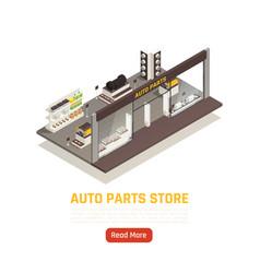 Auto parts store isometric vector
