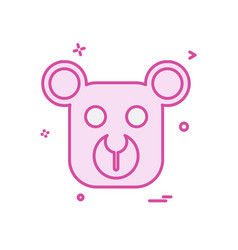 bear icon design vector image