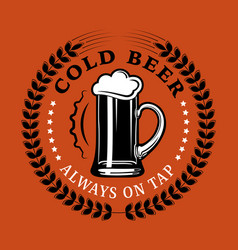 beer advertising cold beer always on tap vector image