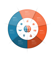 Best ring infographics can be used for workflow vector