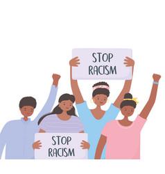 Black lives matter banner for protest crowd of vector