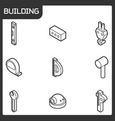 building outline isometric icons vector image