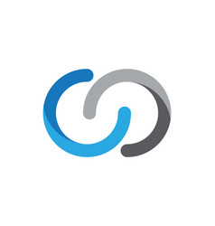 c letter logo design template vector image
