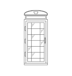 Call-Box London Thin Line vector