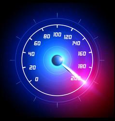 Car speedometer dashboard icon vector