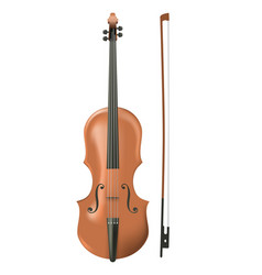Cello on white background vector