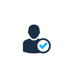 Check user logo icon design vector