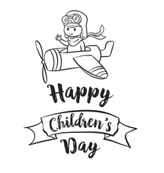 Children day hand draw celebration vector