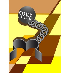 Convicts ball and chain vector