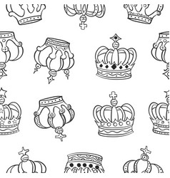 Crown hand draw pattern style vector