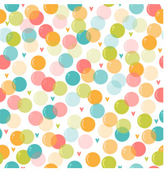 Cute seamless pattern with soap bubbles for kids vector