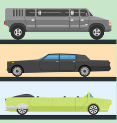 Detailed luxury limousine long car vector