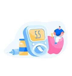 diabetes patient treatment and lifestyle concept vector image