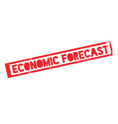 Economic forecast rubber stamp vector