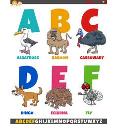 Educational cartoon alphabet collection vector