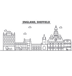 England sheffield architecture line skyline vector