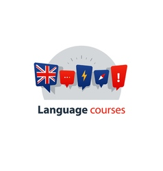 English language courses advertising concept vector