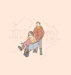 entertainment for romantic couple concept vector image