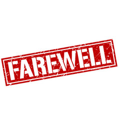Farewell square grunge stamp vector