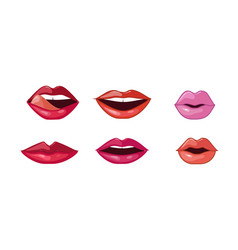 female lips set woman lips with different vector image