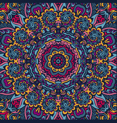 Festive colorful mandala pattern vector