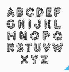 fingerprint alphabet letters vector image