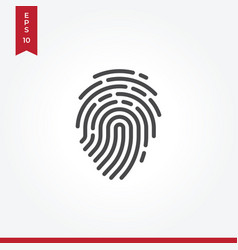 fingerprint icon in modern style for web site and vector image