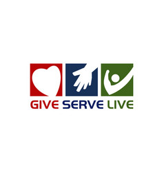 give serve live vector image