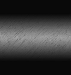 Gray metallic abstract background brushed metal vector