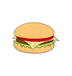 Hamburger food cartoon vector