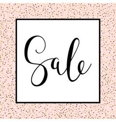 Hand drawn Sale lettering design vector image