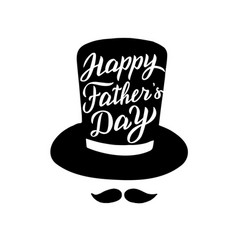 happy fathers day greeting card trendy lettering vector image