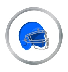 Helmet icon cartoon Single sport icon from the vector image
