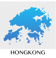 hongkong map in asia continent design vector image