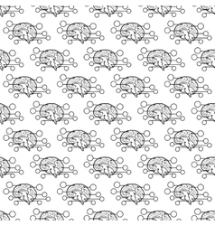Human brain pattern seamless vector image