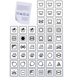 instruction symbols vector image