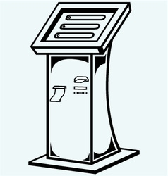 Interactive information kiosk vector image