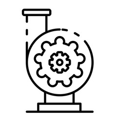 Irrigation pump icon outline style vector