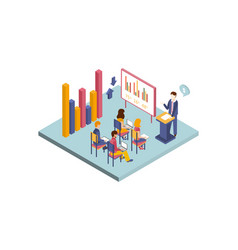 Isometric of business vector