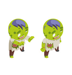 isometric zombie boy costume halloween children vector image