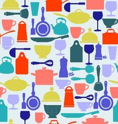 kitchen tool background Kitchenware vector image