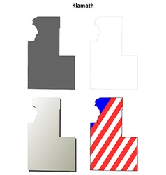 Klamath Map Icon Set vector image