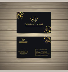 latest gold business card vector image