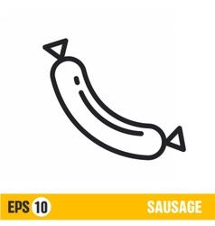 Line icon sausage vector