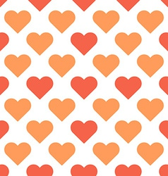 love hearts simple seamless pattern vector image