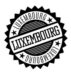luxembourg black and white badge vector image