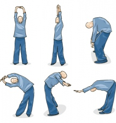 man practice tai chi warm-up vector image