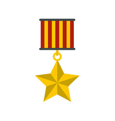 medal star icon flat style vector image